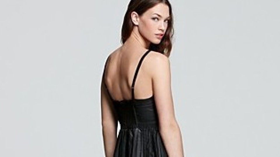 Want: Free People's Vegan Pleated Leather Dress   StyleCaster