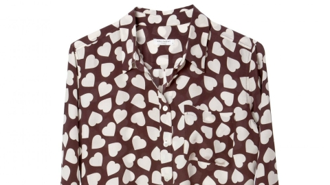 Want: Equipment Signature Heart-Print Blouse   StyleCaster