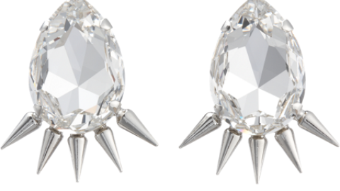 Want: Fallon Crystal Spike Earrings   StyleCaster