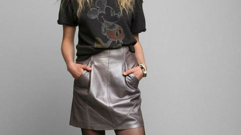 Want: Punky Leather Skirt from Urban Outfitters | StyleCaster
