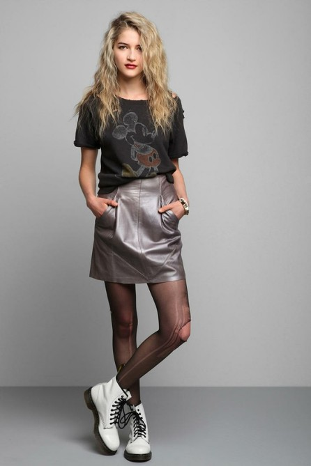 Want: Punky Leather Skirt from Urban Outfitters