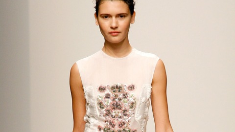 Rachel Comey Spring 2013: Embellished Dresses and To-Die-For Metallic Shoes | StyleCaster