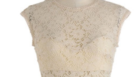 Want: Neutral Lace Dress | StyleCaster