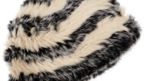 Want: Marc Jacobs Striped Rabbit Fur Hat For Chilly Days (And Nights!) | StyleCaster