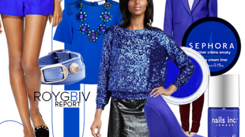ROYGBIV Report: Cobalt Blue Among Fall's Most Shoppable Shades | StyleCaster