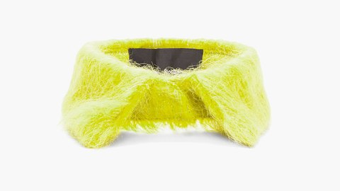 Want: A Statement-Making Yellow Mohair Detachable Collar | StyleCaster