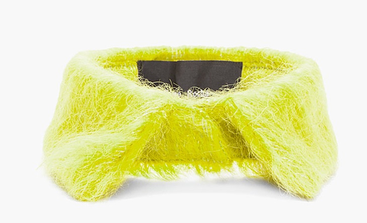 collar Want: A Statement Making Yellow Mohair Detachable Collar