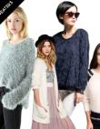 Winter Essential: Warm And Fuzzy Eyelash-Yarn Sweaters