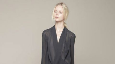 Want: An Airy Draped Blouse With A Chic Minimalist Vibe | StyleCaster
