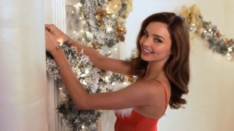 "Video: See Miranda Kerr and The Other Victoria's Secret Angels Stumble Through ""Deck the Halls"" 