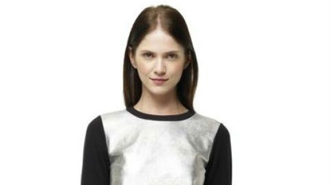 Want: An Updated Sweatshirt With A Modern Metallic Front | StyleCaster