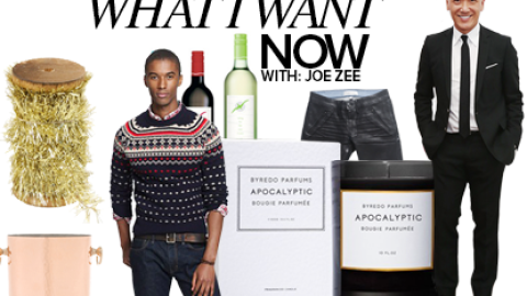 What I Want Now: Joe Zee's Holiday Shopping List | StyleCaster