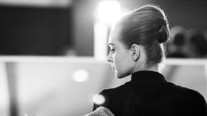 Backstage At Elie Saab Haute Couture In Black And White Stylecaster