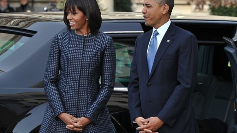 Michelle Obama Wears Custom Thom Browne For Inauguration Day Events | StyleCaster