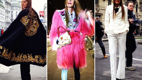 Runway to Anna Dello Russo: The Fashion Editor Wears Head-To-Toe Designer Looks In Milan | StyleCaster