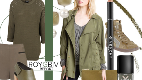 ROYGBIV Report: Replace Boring Black With Cool Army Green This Winter | StyleCaster