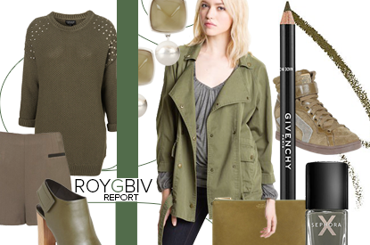 ROYGBIV Report: Replace Boring Black With Cool Army Green This Winter