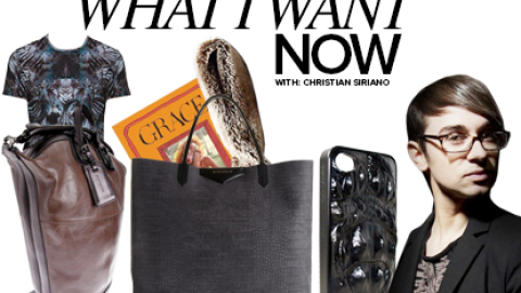 What I Want Now: Designer Christian Siriano Fills Us In On His Winter Wish List | StyleCaster