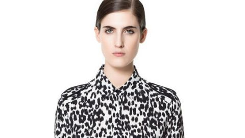 Want: The Perfect Black and White Blouse in Chic Leopard Print   StyleCaster