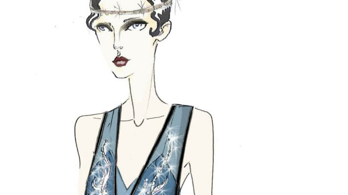 "Prada Unveils Sketches Of ""Great Gatsby"" Costumes"