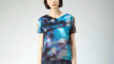 Want: A Boxy Rachel Comey Blouse in a Moody Futuristic Print | StyleCaster