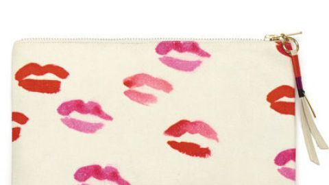 Want: A not-just-for-Valentine's-Day oversized kiss-print pouch   StyleCaster