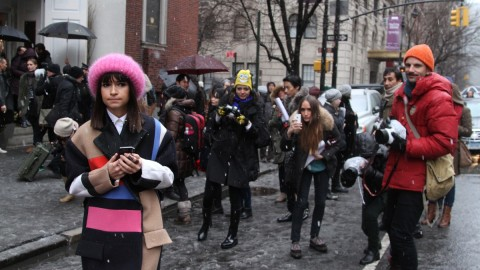 Snowy Street Style at Jason Wu: Allison Williams, Miroslava Duma, Anna Wintour, more | StyleCaster