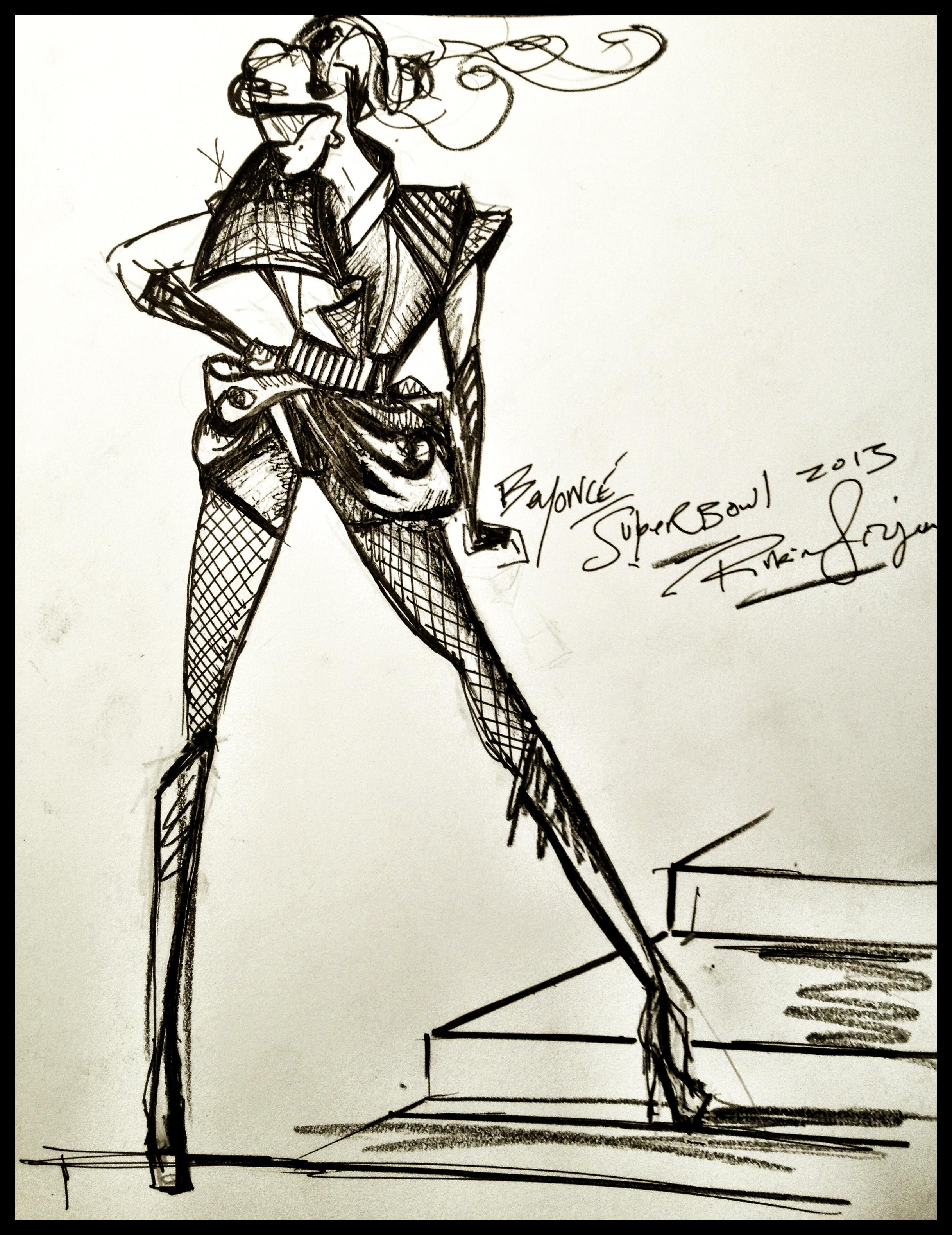 The designer's sketch (photo: rubinsinger.com)