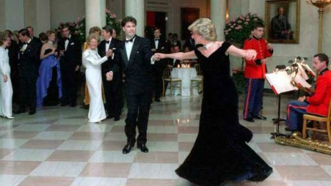 Stuff We Love: Princess Diana's Midnight-Blue Gown Worn To Dance With John Travolta Up For Auction | StyleCaster