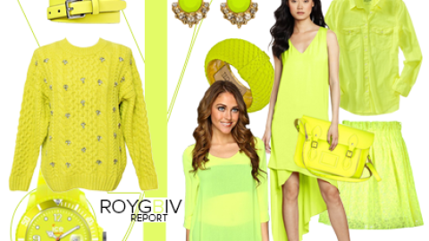 ROYGBIV Report: Make A Statement In Neon Yellow | StyleCaster