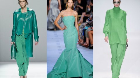 12 Gorgeous Emerald Green Looks Straight From Spring 2013 Runways | StyleCaster