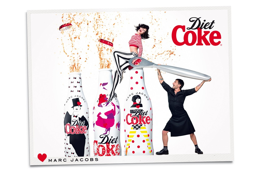 marc jacobs diet coke ads041 Watch: Marc Jacobs (and His Kilt) Star in New Diet Coke Ad Campaign