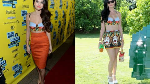 Who Wore This Dolce & Gabbana Crop Top Better: Selena Gomez or Katy Perry? Vote Now! | StyleCaster