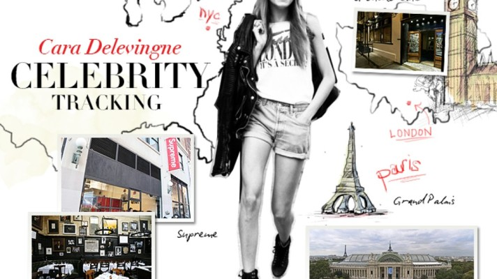 Celebrity Tracking: Where Cara Delevingne Shops, Parties, and Models Around the Globe