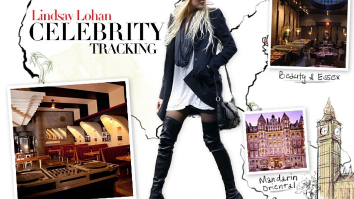 Celebrity Tracking: Where Lindsay Lohan Eats, Sleeps, and Parties Around the Globe