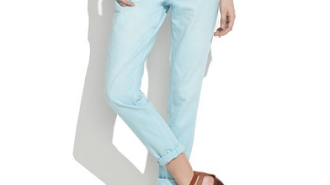 Want: A Perfect Pair Of Slouchy-But-Skinny Pastel Jeans | StyleCaster