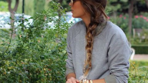 4 Cool Ways To Wear Your Old Gray Sweatshirt This Spring   StyleCaster