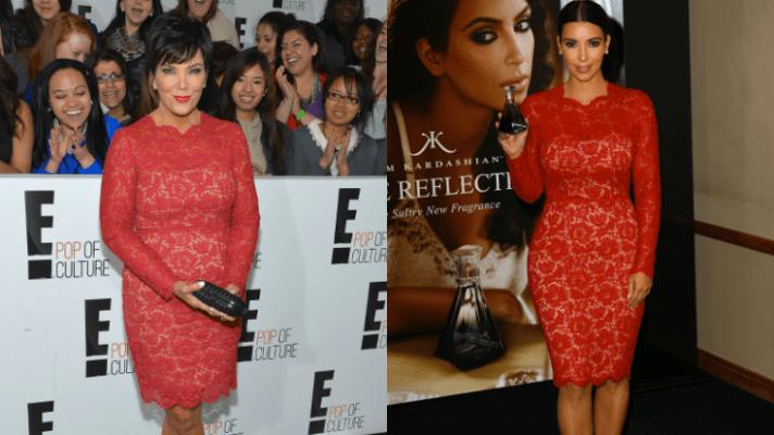 Kris Jenner Wears Kim Kardashian's $3,690 Valentino Dress at E! Event