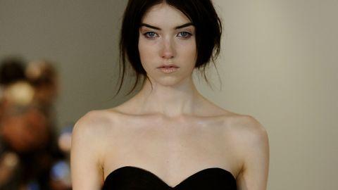 Bridal Fashion Week: Black and White Wedding Dresses at Vera Wang | StyleCaster