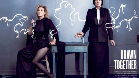 Exclusive: Marina Abramovic and Kim Cattrall Talk 'SATC' and Being BFFs in V Magazine | StyleCaster