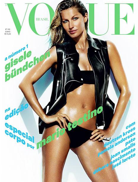 1369838758 gisele bundchen vogue brasil cover lg Gisele Bündchen Flaunts Hot Bikini Body on <em>Vogue</em> Cover Two Months After Giving Birth