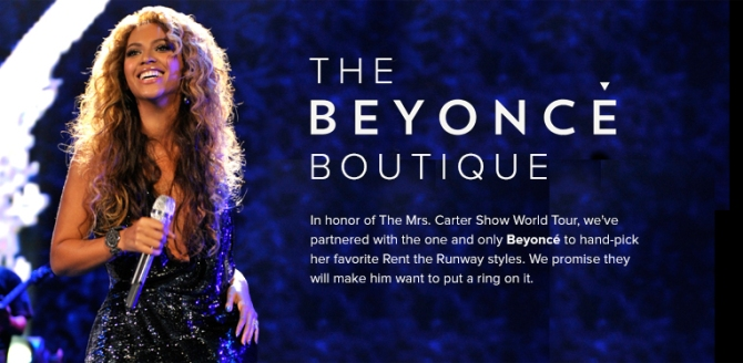 beyonce1 Beyoncé Curated A Boutique For Rent The Runway That Launches Today