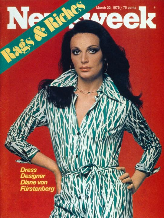 dianevonfurstenbergyoung1 #ThrowbackThursday: See Diane von Furstenberg on the Cover of <em>Newsweek</em> in 1976