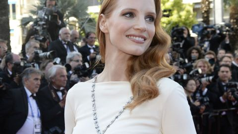 Jessica Chastain Wears Elizabeth Taylor's Sapphire Necklace To 'Cleopatra' Screening In Cannes | StyleCaster