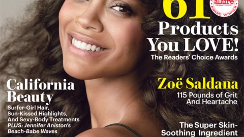 Zoe Saldana's Weight Revealed on New Allure Cover, Poses Naked Inside Mag | StyleCaster