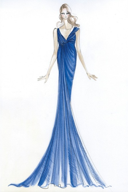 middleton sketches02 Heres What Top Designers Wish Kate Middleton Would Wear While Pregnant