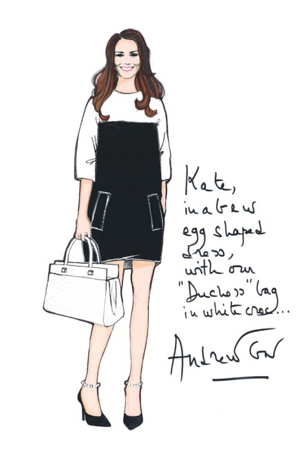 middleton sketches05 Heres What Top Designers Wish Kate Middleton Would Wear While Pregnant