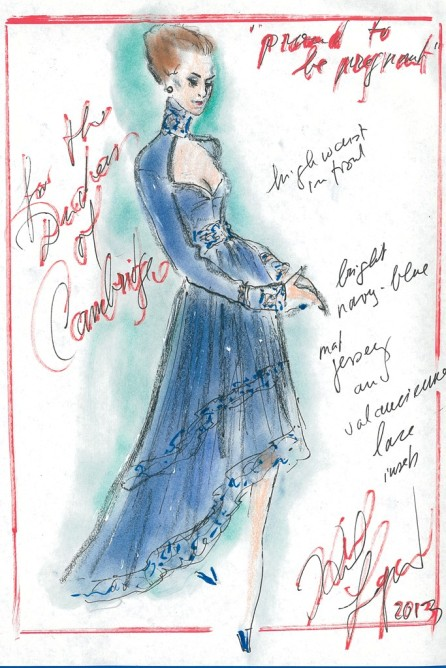 middleton sketches07 Heres What Top Designers Wish Kate Middleton Would Wear While Pregnant