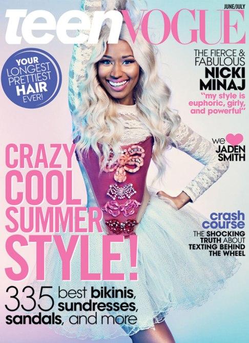 nicki minaj cover 01 Nicki Minaj Covers Teen Vogue, Compares Music Industry To High School