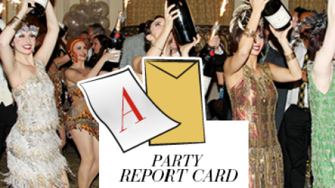"""Party Report Card: Oversized Bottles of Moet, Flappers, and Leo at """"The Great Gatsby"""" Premiere After-Party 